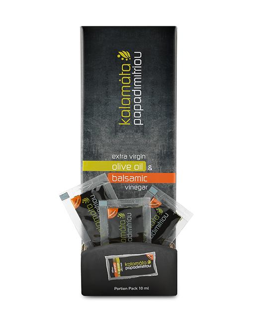 Φακελάκι Άρτυμα Εξαιρετικό Παρθένο Ελαιόλαδο & Βαλσαμικό ξίδι 10ml DISPLAY BOX (5 display boxes*80 τεμ/κιβ)